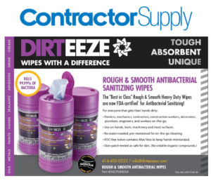 Dirteeze Wipes Contractor Supply