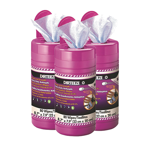 dirteeze rough and smooth antibacterial wipes